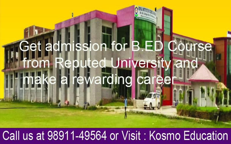 B.Ed from chaudhary Ranbir Singh University