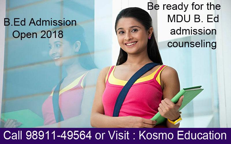 b.ed admission in mdu 2018