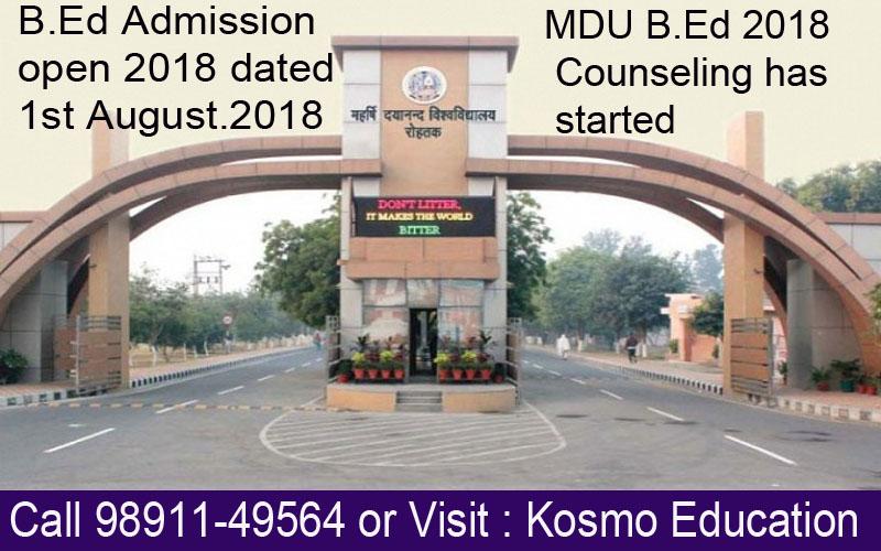 mdu b.ed counseling date