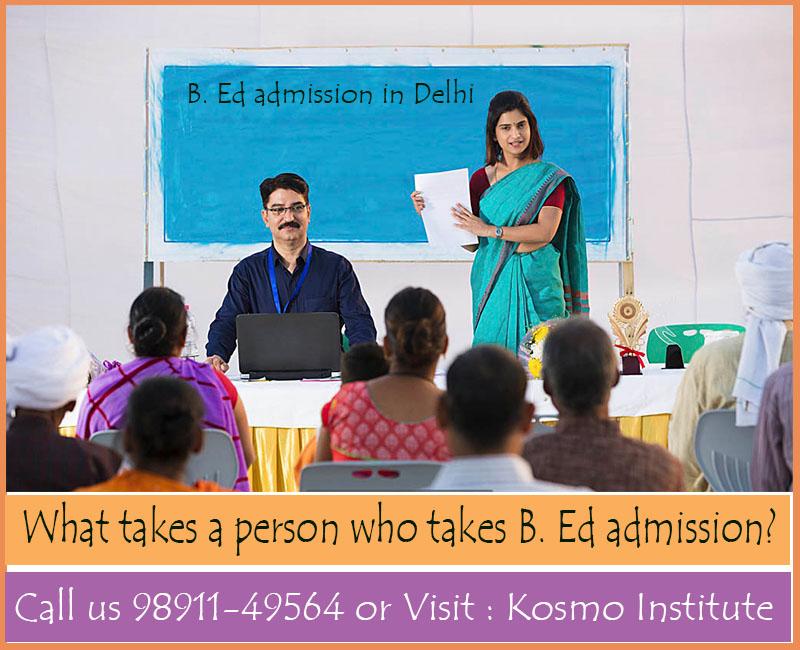 B. Ed admission in Delhi